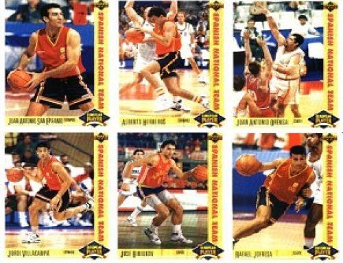 1991-92 Upper Deck International, la colección que incluía cards de la selección española