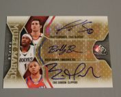 2009-10 SP Game Used Multi Marks Triple #MTFBG Bobby Brown100Eric GordonRudy Fernandez