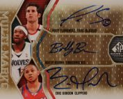 2009-10 SP Game Used Multi Marks Triple #MTFBG Bobby Brown100Eric GordonRudy Fernandez 3