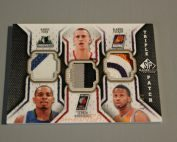 2009-10 SP Game Used Triple Patch #TPFRT Sergio RodriguezAlando TuckerRandy Foye
