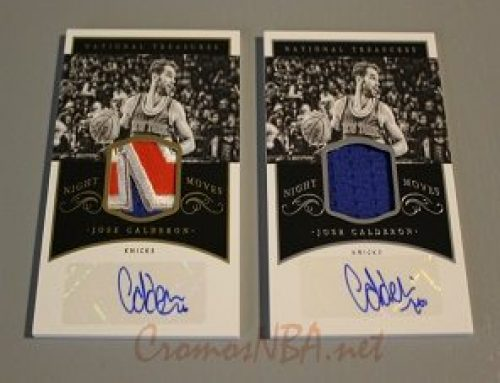 2014-15 Panini National Treasures Night Moves Jersey Autographs #NMJC Jose Calderon