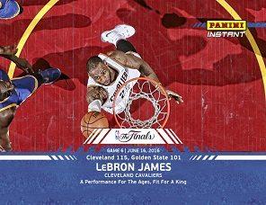 2016 Panini Instant NBA Finals Basketball