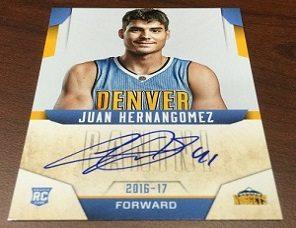 Primer card de Juancho Hernangomez